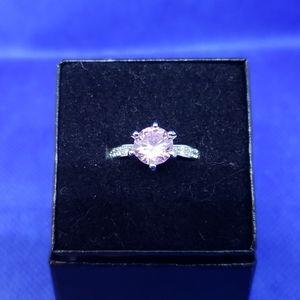 Ring, Pink CZ